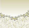 Vector clipart: Beige background with floral ornament