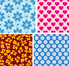 Four seamless pattern with children`s area