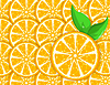 Vector clipart: an orange background with leaves