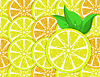 Vector clipart: background of orange and lemon slices