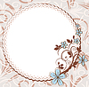 Vector clipart: Vintage frame with floral pattern