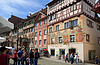 Photo 300 DPI: Painted facade of historic building in Swiss city