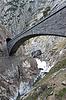 Photo 300 DPI: Devil`s bridge at St. Gotthard pass, Switzerland. Alps