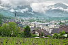 Фото 300 DPI: Панорамный вид на Княжество Лихтенштейн