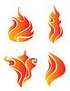 Vector clipart: burning fire