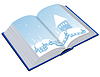 Vector clipart: Open book with an winter