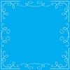 Vector clipart: blue floral frame