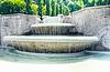 瀑布喷泉水上乐园巴登 - 巴登。 | 免版税照片