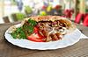 多纳烤肉串土耳其国家粮食 | 免版税照片