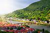 Photo 300 DPI: Panoramic view of Heidelberg in morning sun