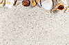 ID 5857848 | Travel background with sand and shells. Summer beach | High resolution stock photo | CLIPARTO