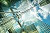 現代ののガラス壁の抽象的なテクスチャ | 写真