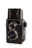Old twin-lens reflex camera. | Stock Foto