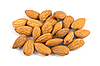 Pile of almond nuts isolated | Stock Foto