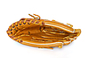 Foto 300 DPI: Baseballhandschuh auf Weiß