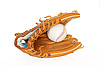 Baseball catcher with ball inside | Stock Foto