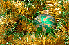 Photo 300 DPI: Green Christmas bauble and decoration