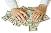 Greedy hands grabbing money | Stock Foto