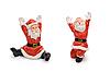 산타 클로스 인형 흰색 배경에 고립 | Stock Foto