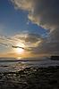 洛基海洋海岸日落 | 免版税照片