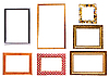 Collection of isolated picture frames | Stock Foto