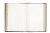 Фото 300 DPI: Старая открытая книга с пустыми страницами