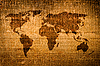 Фото 300 DPI: Старая гранж-карта мира