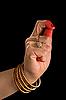 ID 3015552 | Kapittha hasta indyjskiego tańca Bharata Natyam | Foto stockowe wysokiej rozdzielczości | KLIPARTO