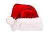 圣诞老人的帽子被隔绝在白色 | 免版税照片