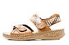 Photo 300 DPI: Single beige sandal isolated