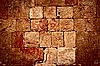 Stone wall of Mayan ruins | Stock Foto