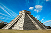 Ancient mayan pyramid in Chichen-Itza, Mexico | Stock Foto