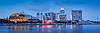 Singapore skyline panorama at Marina Bay   免版税照片