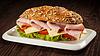 ID 5433358   Ham sandwich on wooden background   High resolution stock photo   CLIPARTO
