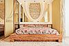 Bedroom in warm tones | Stock Foto