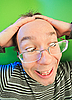 Photo 300 DPI: Funny surprised man