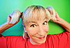 Funny cunning woman portrait | Stock Foto