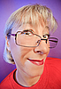 Funny curious woman portrait | Stock Foto