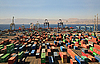 Containers in cargo port | Stock Foto