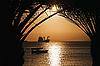 Photo 300 DPI: Golden Jordan sunset in Aqaba, red sea