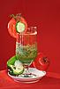 Warzywa świeże soki, pomidora i ogórka | Stock Foto