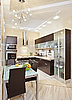 Modern Kitchen interior in warm tones | Stock Foto