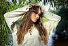 Nachdenkliche schöne junge Frau | Stock Photo