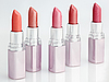 Color lipsticks arranged in line | Stock Foto