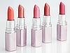 Photo 300 DPI: Color lipsticks arranged in line