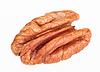Pecan nut core on white | Stock Foto