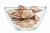 Brazil nuts in glass bowl | Stock Foto