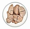 Photo 300 DPI: Brazil nuts in glass bowl