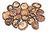 흰색에 말린 된 필드 버섯 | Stock Foto