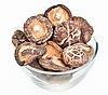 유리 그릇에 말린 필드 버섯 | Stock Foto